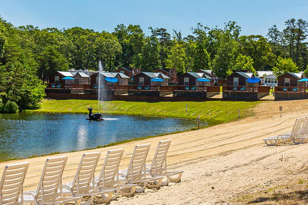 lake and cabins
